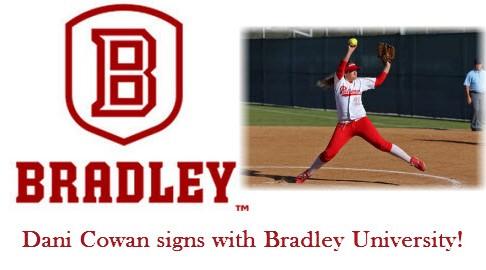Dani Cowan signs with Bradley University!