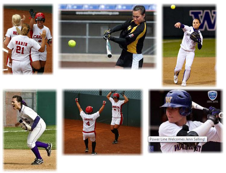 Power Line Softball San Diego Jenn Salling Collage Jenn Salling