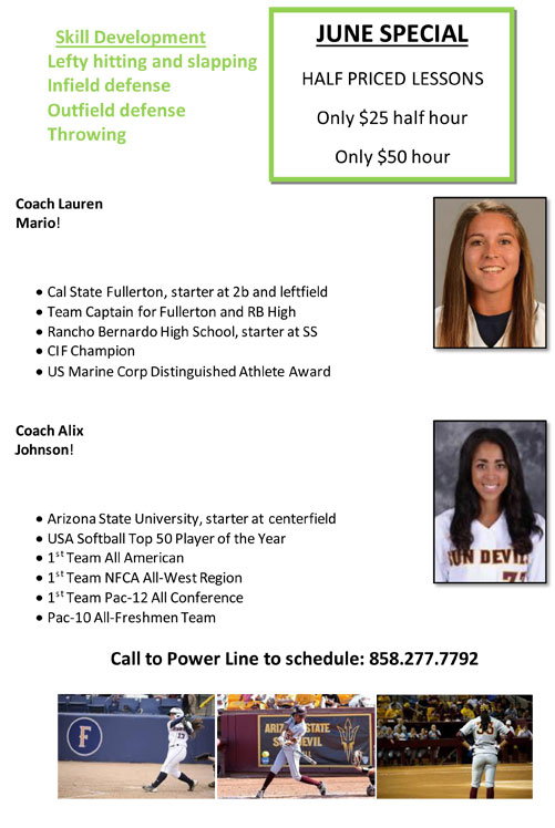 June Specials: 50% Off With Our New Coaches!