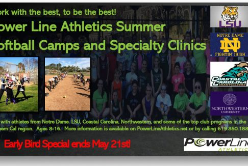 EARLY BIRD SPECIAL for Summer Camps and Clinics ends May 21!